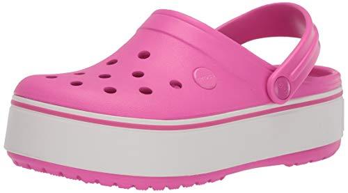 Crocs Unisex-Kid's Crocband Platform Clog, Electric Pink, J5 M US Big Kid