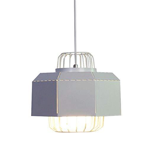 Lightoray Suspension Luminaire Le fil de suspension réglable blanc fer 100cm Diamètre 30 * 25cm E27 Plafonnier Eclairage Lustre pour Cuisine Chambre Salle à Manger Salon Escalier Restaurant