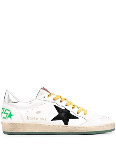 Golden Goose Luxury Fashion Uomo GMF00117F00063410349 Bianco Pelle Sneakers | Stagione Permanente