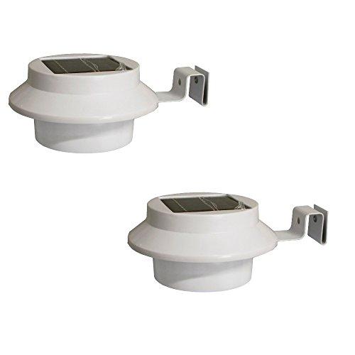 Dachrinnenleuchte Dachrinnenlampe 2er Set LED Solarlampe für Dachrinnen Außenlampe Leuchte Wandlampe Solar mit 3 LED