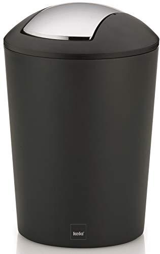 kela Schwingdeckeleimer, Kunststoff, Schwarz, 5 Liter