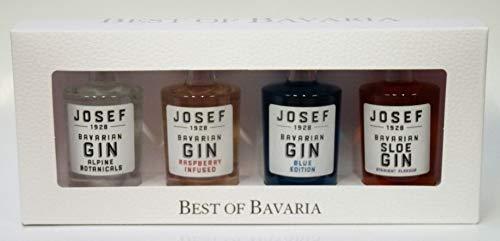 BEST OF BAVARIAN - 4 Miniaturen JOSEF GIN Lantenhammer 42% 4x0,05L Miniatur