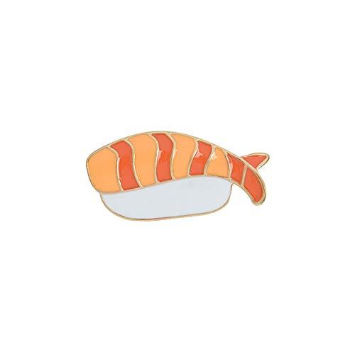 Momangel - Broche de sushi esmaltado unisex para chaqueta de mezclilla, abrigo...