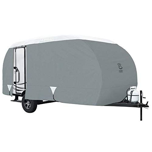 Classic Accessories - 80-197-171001-00 Over Drive PolyPRO3 Deluxe R-Pod Travel Trailer Cover, Fits up to 17' 7' Long - Trailer Body Only