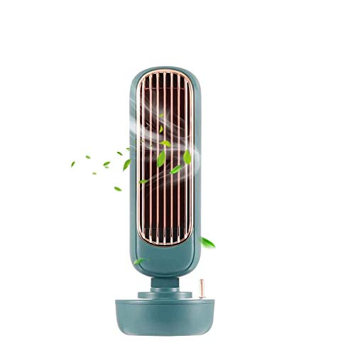 ADLOASHLOU USB Fan Retro Humidification Tower Fan,Air Conditioner Fan, Air Cooler and Humidifier,Evaporative Coolers with Timing Function for Office, Home, Dorm, Travel Green
