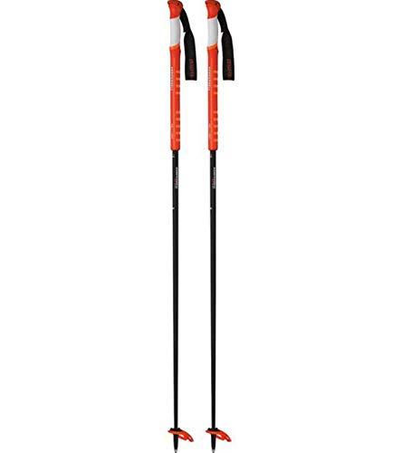 Bastoncini da sci KOMPERDELL Carbon Tour Light bastoncini da sci alpinismo super leggeri con dettagli arancioni neri, dimensione:110 cm