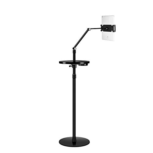 Aluminum Alloy Kids Ipad Stand,Height Adjustable 60-160cm/23.6-63in, Black 360 Clamp Tablet Holder for Bed,Newest Adjustable Stand for Tablet And Cell Phone,Universal Gooseneck Legs Smartphone Ipad H