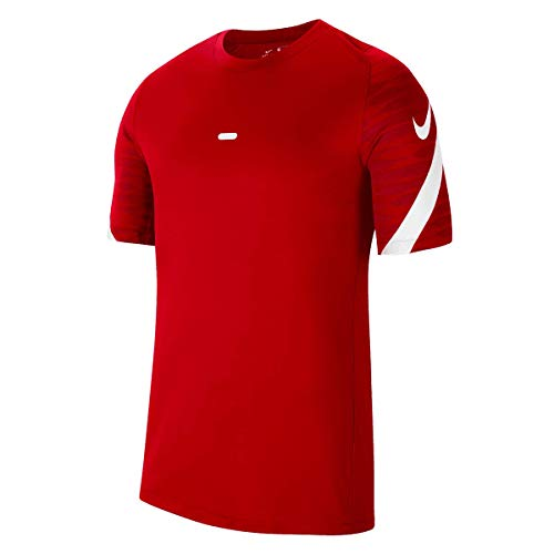 NIKE Camiseta de Manga Corta Unisex para niños Strike 21 Top (Youth), Unisex niños, CW5847-657, University Red/Gym Red/White/White, 8-10 años