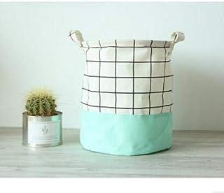 MJY Panier à linge, panier de rangement imperméable en lin pliant divers vêtements Organisation Barrel for Home Sort Sorti...