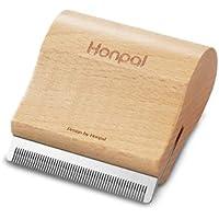 Honpal Deshedding Ergonomic Design Wooden Brush Grooming Tool