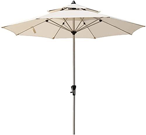 WDSZXH Terrasse Regenschirm mit Kurbel, Sonnenschirm Wasserdicht und UV-Schutz, 2,7 Mr-Regenschirm mit Belüftung, Aluminium-Regenschirm-Pole, ideal für Reisen