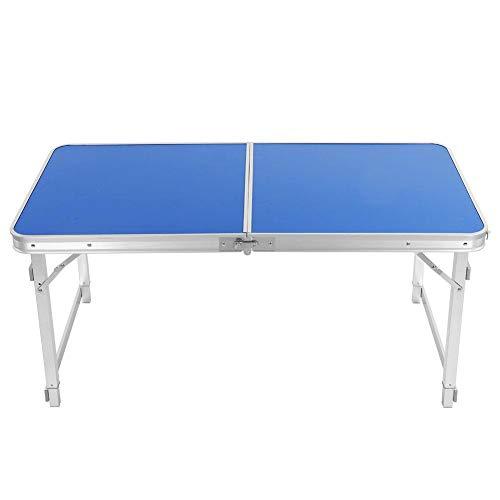 Alomejor Camping Tisch 120x60cm Klappbarer Quadratischer Tisch Rechteckiger Tragbarer Tisch Zweibeiniger Tisch im Freien