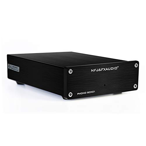 FX AUDIO Box 01 Phono Preamp RCA Input Output MM Phonograph Preamplifier...