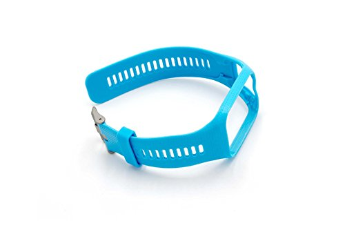vhbw Armband passend für Tomtom Runner 2, Runner 3, Spark, Spark 3, Adventure, Golfer 2 GPS-Uhr, Wechselarmband, himmelblau