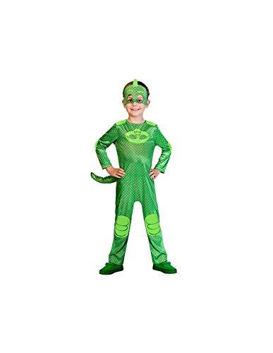 DISBACANAL Disfraz Gekko PJ Masks para niño - -, 5-6 años