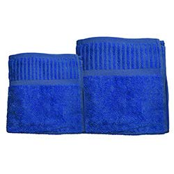 Das blaue Wunder - Bamboo Hand- und Duschtuch (blau)