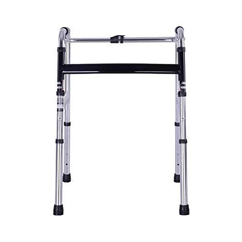 QIYUE Wandelen Aid, kan Aluminium Walker for Ouderen met een handicap Revalidatie Walker worden gereden met verstelbare, loophulpmiddelen, for Ouderen