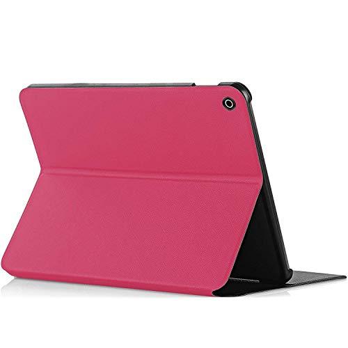 Forefront Cases® All-New Amazon Fire HD 8 Tablet (7th Generation – 2017 Modell) Hülle Schutzhülle Tasche Bumper Folio Smart Case Cover Stand - Ultra Dünn & Leicht mit R&um-Geräteschutz (ROSA)
