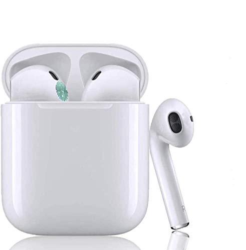 Auricular Bluetooth 5.0, Auricular inalámbrico, micrófono y Caja de Carga incorporados, reducción del Ruido estéreo 3D HD, para Auriculares iPhone/Android/Apple Airpods Pro/Huawei