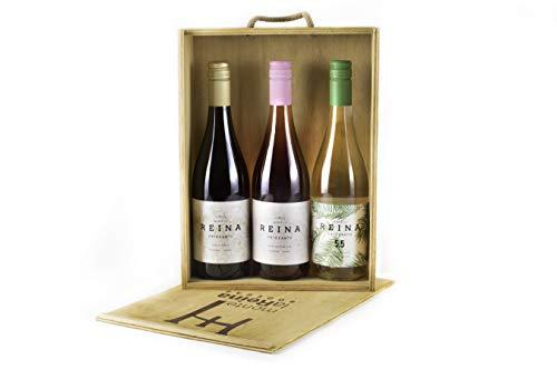 Vino Frizzante, vino blanco verdejo - Tempranillo- Con un Sabor Suave, Agradable y Vivo I Espumoso – Semidulce - VINO FRIZZANTE REINA (PACK 3 BT)