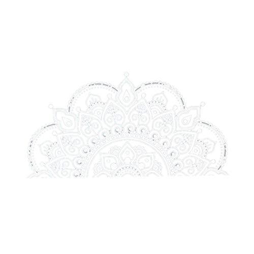 Nicetruc Kreative Schöne Datura Wandtattoo Abnehmbare Blume Aufkleber PVC-Aufkleber Hauptdekoration Weiß