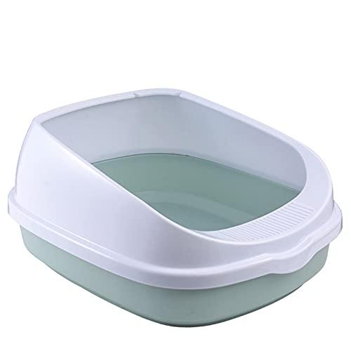 NgMik Caja de Arena Grande no Palo Caja de Arena Grande de no Palo con Recubrimiento Antideslizante Scoop Pet Safe para facilitar la Limpieza y la higiene Superior (Color : Blue, Size : 48x40x21cm)