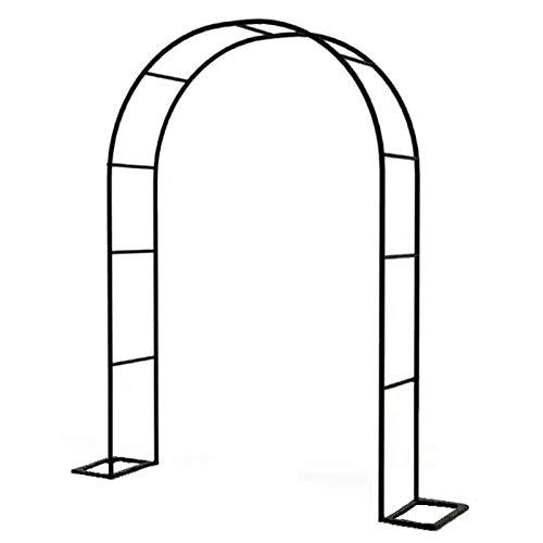 LBSY Arco de Jardín Independiente, una Variedad de Tamaños para Elegir, Fácil de Montar, Cenador de Jardín de Hierro Duradero, Utilizado para Plantas Trepadoras, Decoración de Bodas, Negro, Blanco