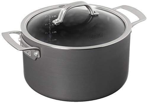 Viking Culinary harteloxierte antihaftbeschichtete Dutch Oven 6 Quart, grau