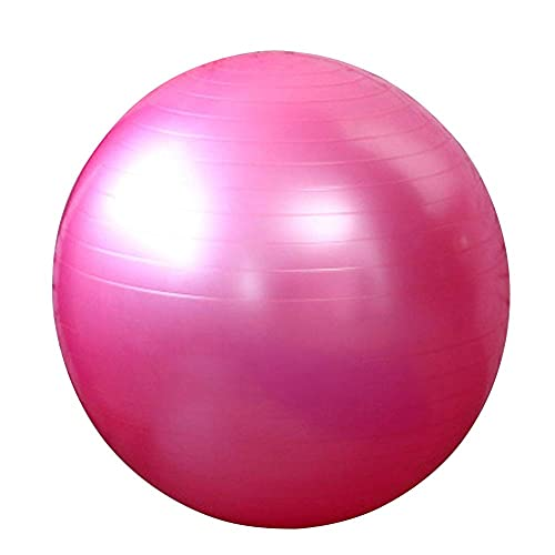 Bola de Yoga Ejercicio Estabilidad Fitness Bola Anti-ráfaga para Birthing Yoga Pilates Fitness Embarazo Trabajo Púrpura 65 cm BJY969 (Color : Pink)