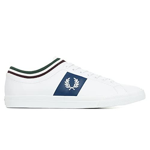 Fred Perry - Scarpe da Uomo Underspin Polsino con Punta in Pelle B8185 200 Colore Bianco - Bianco, 41 EU all Brands