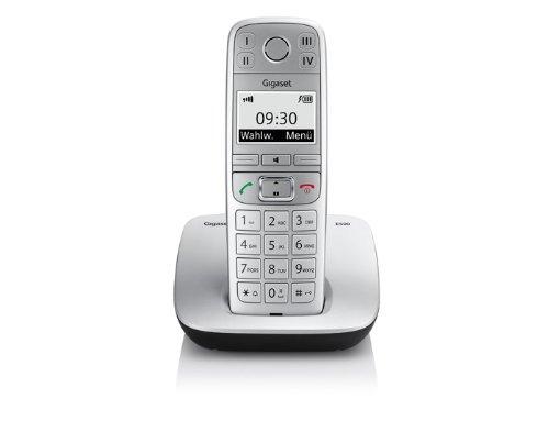 Gigaset E500 Dect-Großtasten-Schnurlostelefon, titanium