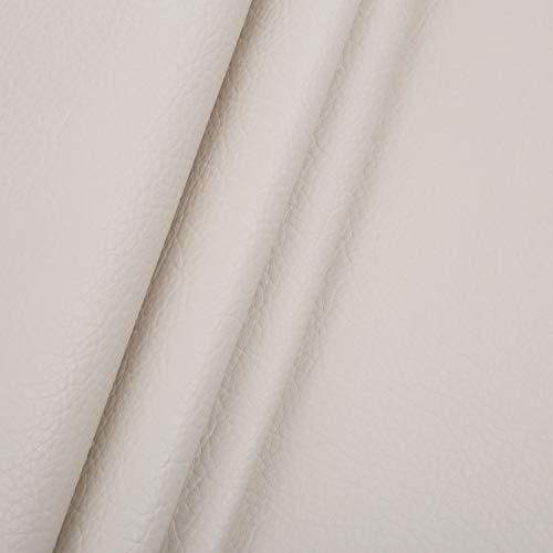 LOKIPA 合皮 生地 ソフトレザー DIY かばんの作りに 手芸材料 pvc leather ライチ紋 幅135�p (ベージュ, 1m)