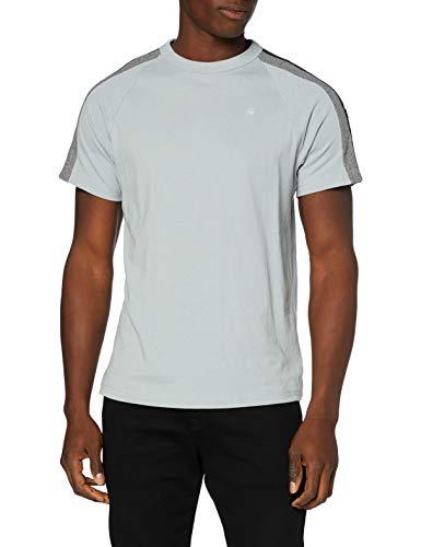 G-STAR RAW Sport Tape Logo Camiseta, Gris Correcto C336-1238, Medium para Hombre