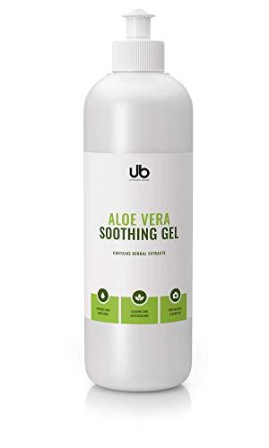 UB Aloe Vera Soothing Gel für Gesicht, Haare und Körper - speziell formuliert, um die Haut zu glätten und ihr Aussehen zu verbessern 500 ml