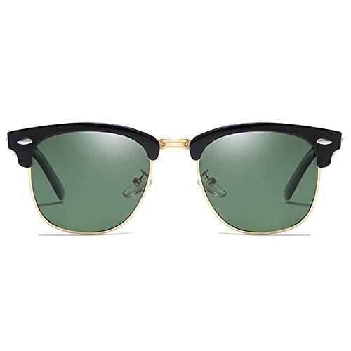 Kaper Go Gafas de sol retro clásicas polarizadas de metal y plástico UV400 Gafas de sol Tendencia verde/plateado/marrón/azul hombres y mujeres con las mismas gafas de sol de conducción (color: verde)