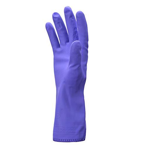 STAO Gants en caoutchouc, épaississement et travaux ménagers en velours, nettoyage de la vaisselle résistante à l'eau et aux huiles, lavage durable du linge, lavage du linge, vêtements de lavage, gant