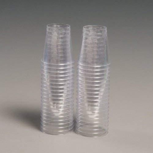 PinkWebShop NSHOT40-ESST-A - Juego de 30 Vasos Desechables + 20 Gratis, 30 ml, Transparente