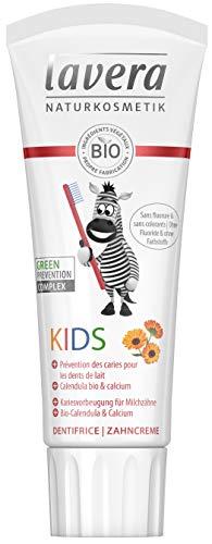 lavera Dentifrice Kids sans Fluor/Sans Colorants Vegan Cosmétiques naturels Ingrédients végétaux bio 100% naturel 75ml