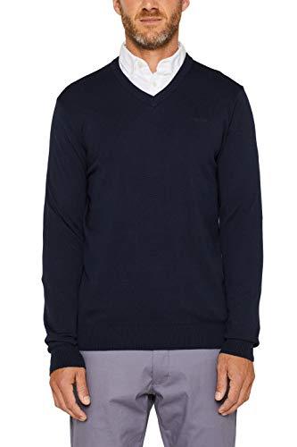 ESPRIT Herren 999EE2I804 Pullover, Blau (Navy 400) - 2019, XL