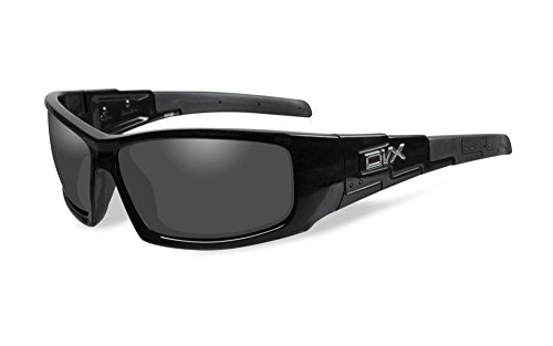 DVX VIZOR Sunglasses Polarized Grey Lenses with Gloss Black Frame (Meets ANSI Z87.1 & OSHA Safety Standards)