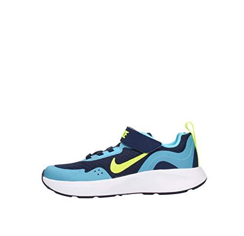 Nike Wearallday, Scarpe da Ginnastica, Blu Notte Blu Navy Volt Baltic, 27 EU