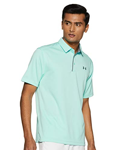 Under Armour Men's Tech Golf Polo, Neo Turquoise (361)/Pitch Gray, X-Large