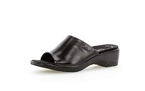 Gabor Damen ClogsPantoletten, Frauen Clogs,Comfort-Mehrweite, Women's Woman Freizeit leger Hausschuh Pantoffel Slipper Slides,schwarz,40.5 EU / 7 UK