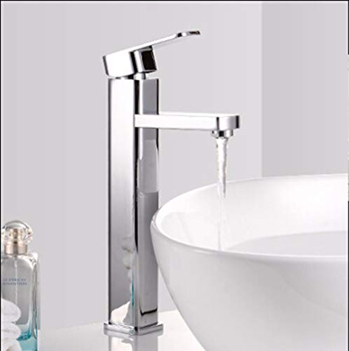 Best Review Of Modern Brass Constructed Hot And Cold Basin Sink Faucet Bathroom Sink Faucet Basin Fa...