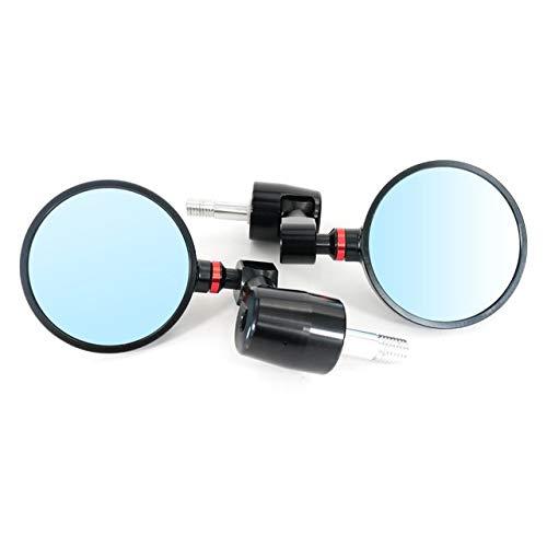 Design di Hardwearing Felicey. Accessori per motocicli Cafe Racer CNC Maniglia con maniglia retrovisore Specchi a specchietti laterali per B.M.W S1000RR HP4 R Nine-T CNC alluminio (Color : RED)