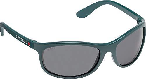 Cressi Rocker Floating Sunglasses Gafas de Sol Deportivas Flotantes con Estuche Rígido, Adultos Unisex, Aceite-Lentes Ahumadas, Un Tamaño