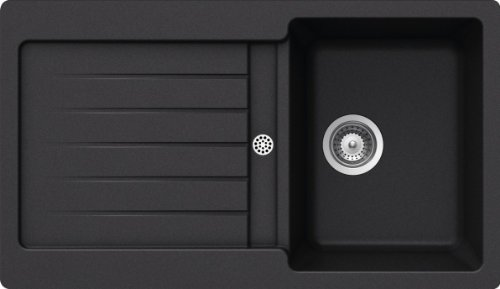 SCHOCK Küchenspüle 86 x 50 cm Typos D-100 Nero - CRISTALITE Granitspüle ab 45 cm Unterschrank-Breite