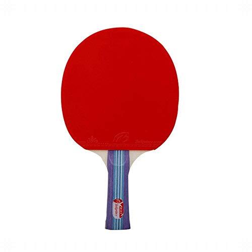 FEOPW Tischtennisschläger Tibia mit Ping-Pong-Profi Kreuz Schuss + Pen-Hold-1-Kugel tischtennisschlaeger Jugend (Size : 2 Shots+1 Ball)