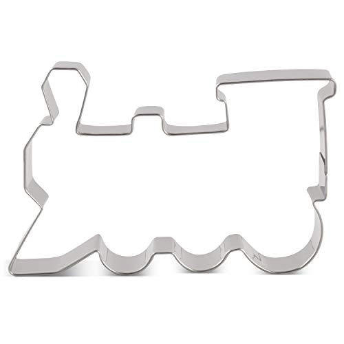 LILIAO Train Cookie Cutter - 4.4 x 2.9 inches - Stainless Steel