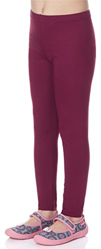 Merry Style Leggins Mallas Pantalones Largos Ropa Deportiva Niña MS10-130 (Vino, 146 cm)
